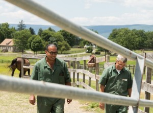 Inmates enjoy getting outside to work and commune with nature.