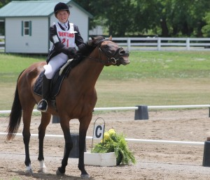 Arrested Gatorgirl and her Madisyn DeCant share a laugh in the dressage ring. Photo by Sharon DeCant